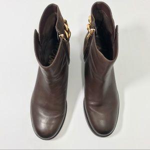 af7e01e079ac7e Sam Edelman Shoes - SAM EDELMAN • Chester Chain Booties Brown Gold